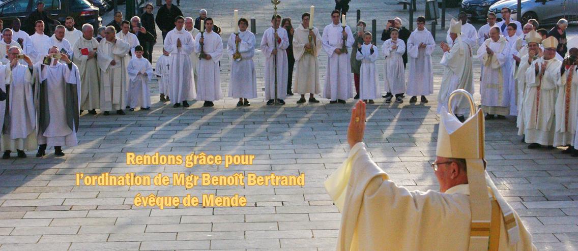 Slider Diocèse de Mende - Ordination Mgr Benoît Bertrand