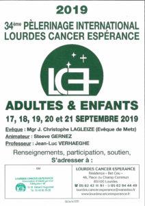 34ème pèlerinage du mouvement Lourdes Cancer Espérance avec le diocèse de Mende