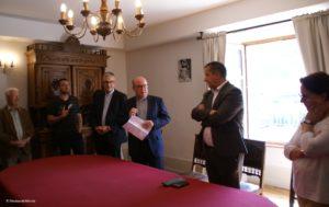 Copyright Diocèse de Mende - Signature du bail emphytéotique avec la mairie de Mende pour l'ermitage Saint-Privat