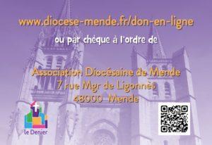 Soutenez le diocèse de Mende en faisant un don au Denier