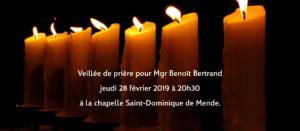 Veillée de prière pour Mgr Bertrand le 3 mars 2019 - Copyright-Diocese-Mende
